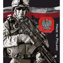 Znaczek Metalowy Haasta - Orzeł Polski