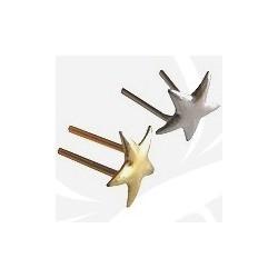 Gwiazdki, krokiewki, belki - oznaczenia stopni - srebrne