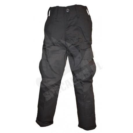 Spodnie wojskowe dziecięce czarne bojówki