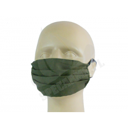 Maska maseczka bawełniana na twarz oliwkowa