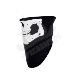 Chusta bawełniana z motywem czaszki 101 Inc. Czarna