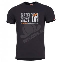 Koszulka T-shirt Pentagon Ageron Born for Action Black