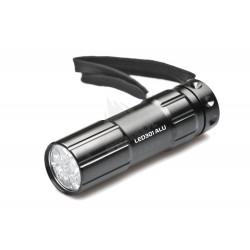 latarka 9 LED, włącznik z tyłu