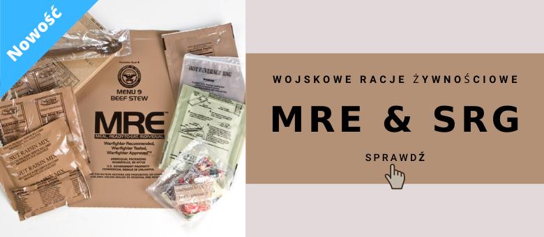 Racje żywnościowe MRE i SRG w Specarms.pl